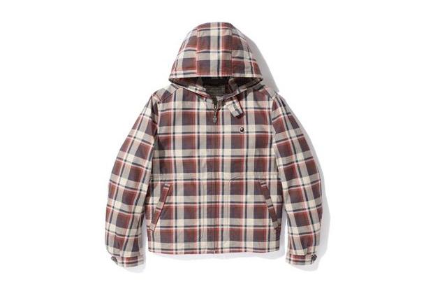 a bathing ape x mcgregor half bapecheck hoodie jacket