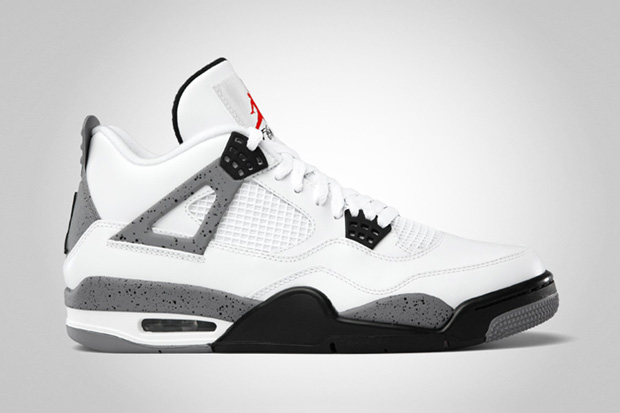 Air Jordan IV 2012 White/Cement Grey Retro