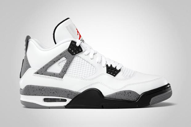 Air Jordan IV 2012 White/Cement Grey Retro