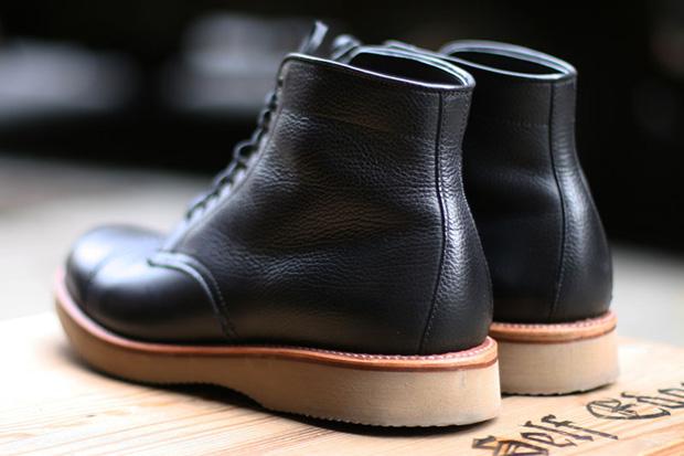 self edge x leather soul x alden boots