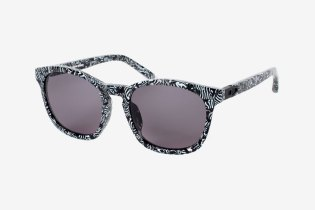 Alexander Wang x Linda Farrow Rectangle-Frame Zebra Print Sunglasses
