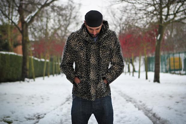 b side by wale custom leopard print parka