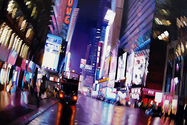 Blurry Nightlife Oil Paintings by Alexandra Pacula