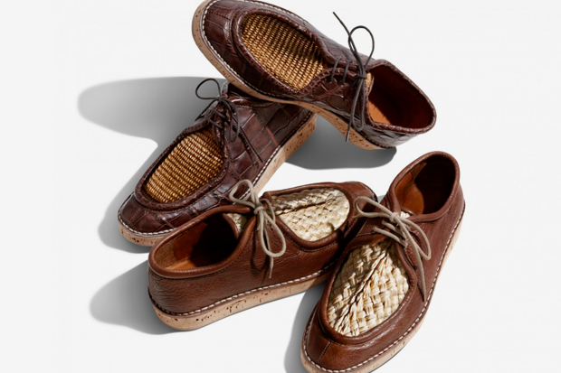 burberry 2012 spring summer raffia upper desert loafers