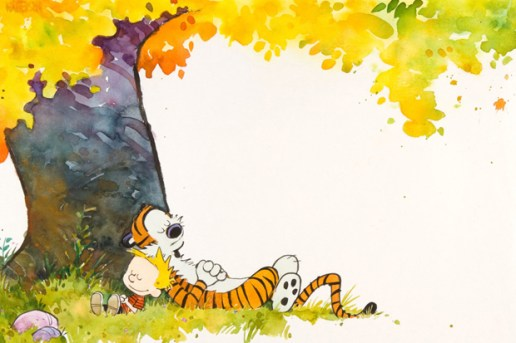 Calvin and Hobbes 1989-90 Calendar Cover Original Artwork Auction