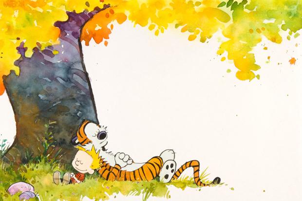 Calvin and Hobbes 1989-90 Calendar Cover Original Artwork Auction
