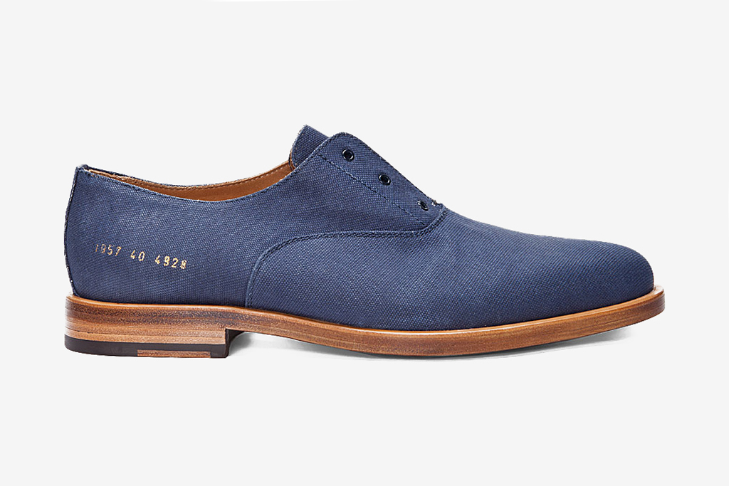 Common Projects Navy Officer's Derby Shoes