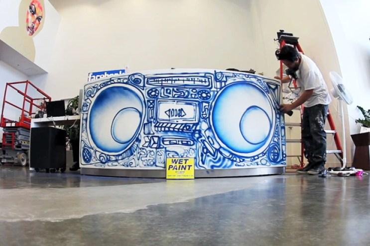 "David Choe x Facebook HQ ""Boombox"" Desk"