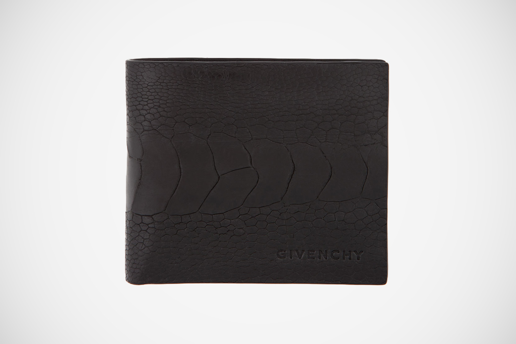 Givenchy 2012 Spring/Summer Black Ostrich Wallet