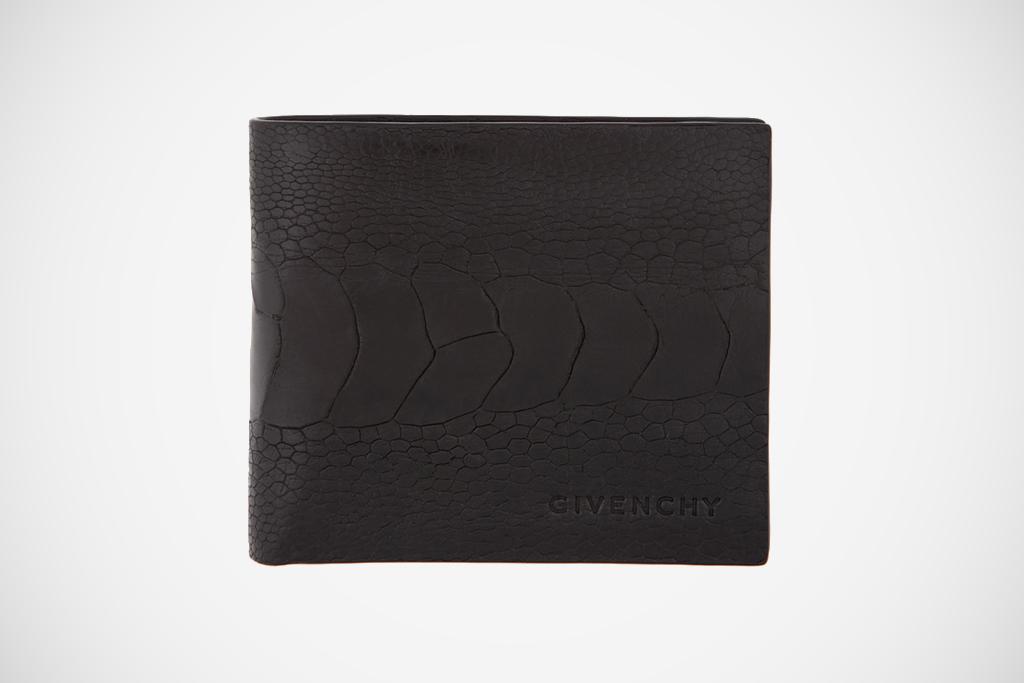 Givenchy 2012 Spring/Summer Black Ostrich Wallet