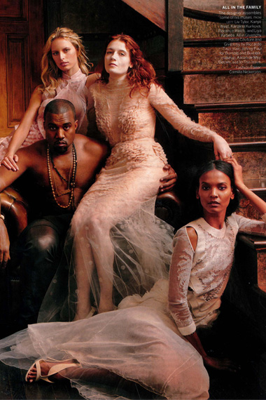 Riccardo Tisci and Kanye West for Vogue