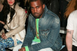 Kanye West Wears Zen Grey Air Yeezy 2 @ London Fashion Week