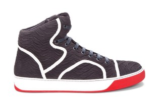 Lanvin Black Ridge Tennis Sneakers