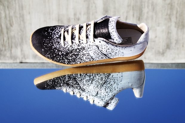 maison martin margiela 2012 spring summer pixelated low top sneakers