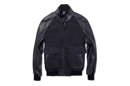Maison Martin Margiela Suede and Leather Bomber Jacket