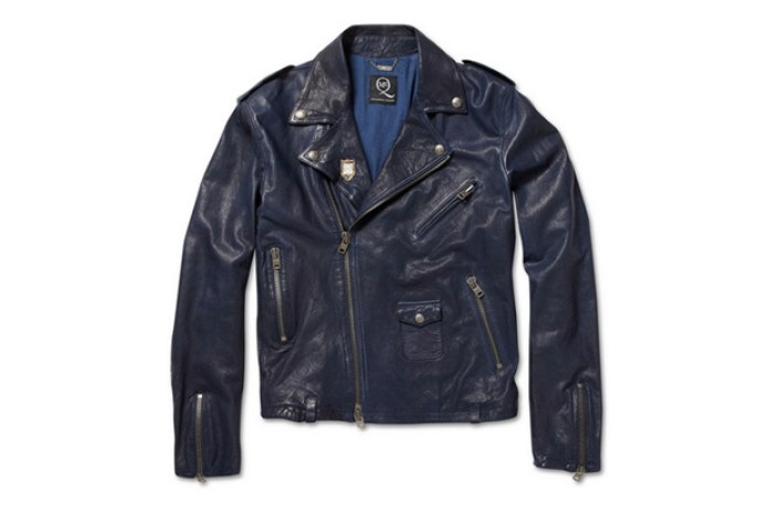 McQ by Alexander McQueen Washed Leather Biker Jacket