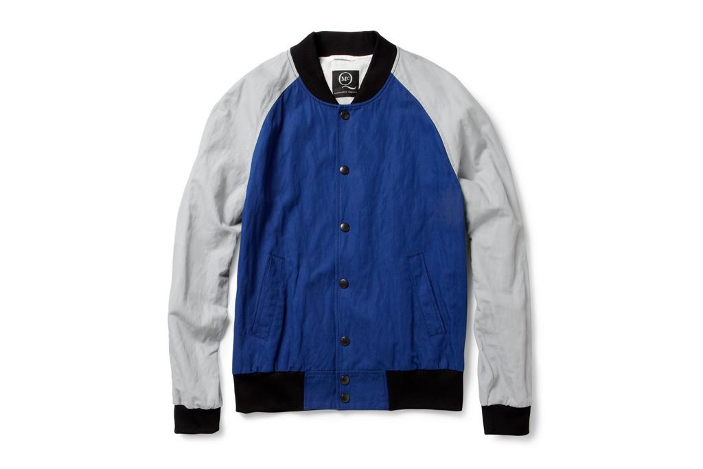 mcq alexander mcqueen cotton blend baseball bomber jacket
