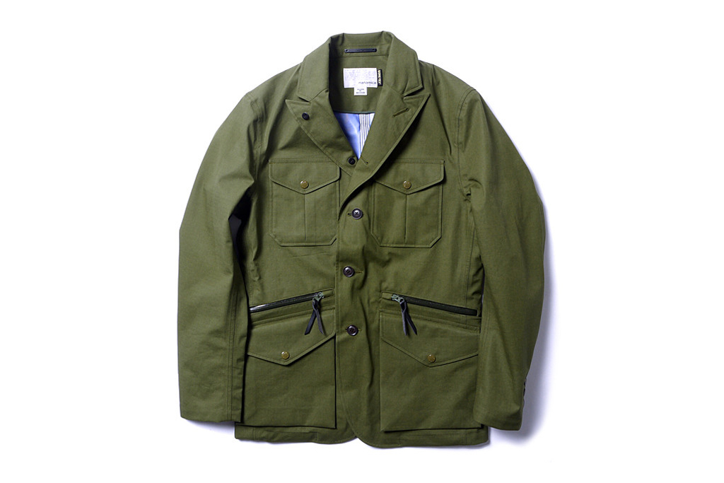 nanamica gore tex field jacket