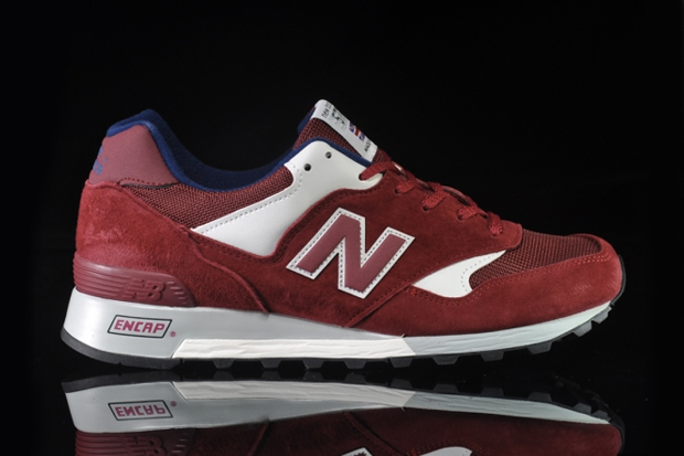 new balance m577 d deep red ivory