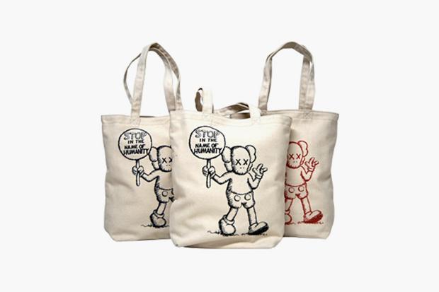 """OriginalFake """"Stop in the Name of Humanity"""" Tote Bags"""