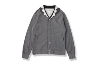 OriginalFake SHAWL COLLAR BUTTON UP SWEAT