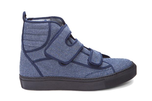 raf simons 2012 spring summer high denim velcro sneakers