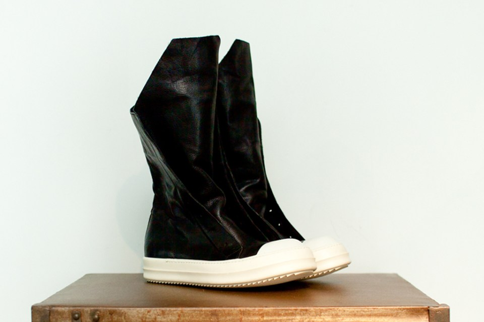 rick owens 2012 summer leather hiking boot hypebeast