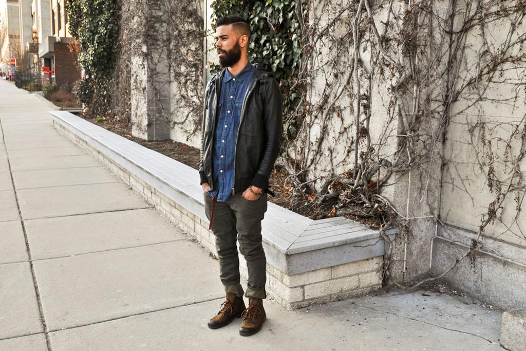 Streetsnaps: Leather/Denim