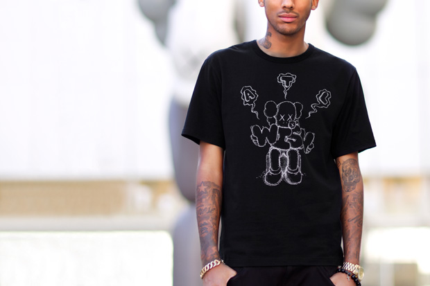 wish x kaws 2012 collaboration t shirt