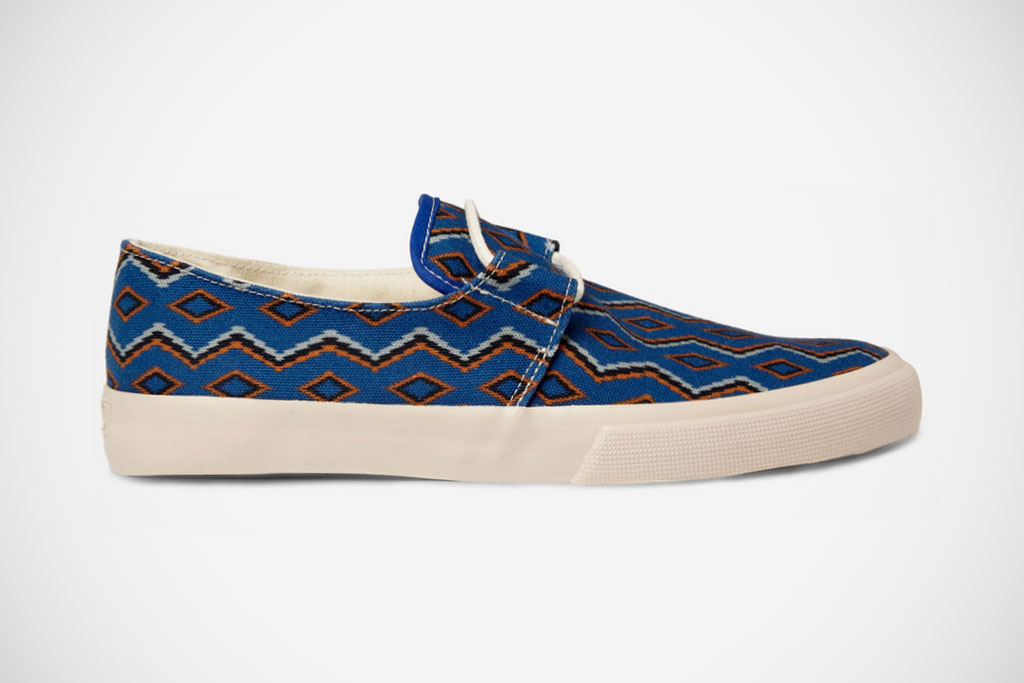 ymc 2012 spring summer blue cotton navajo deck shoes