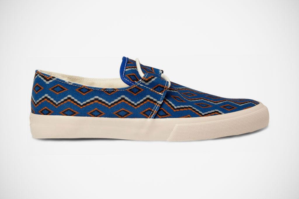 YMC 2012 Spring/Summer Blue Cotton Navajo Deck Shoes
