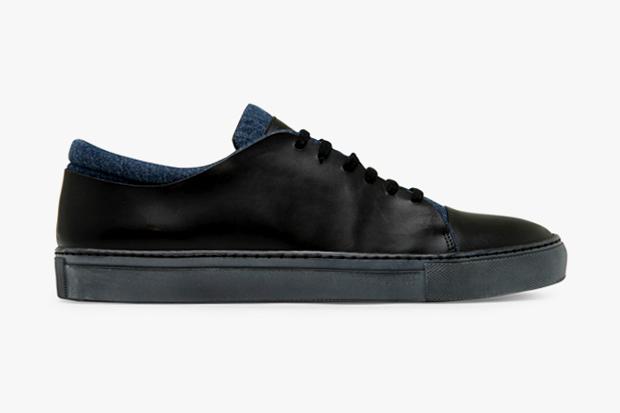 Acne Leather/Denim Sneaker