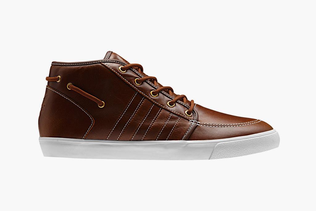 adidas Originals Leather Court Deck Vulc Mid