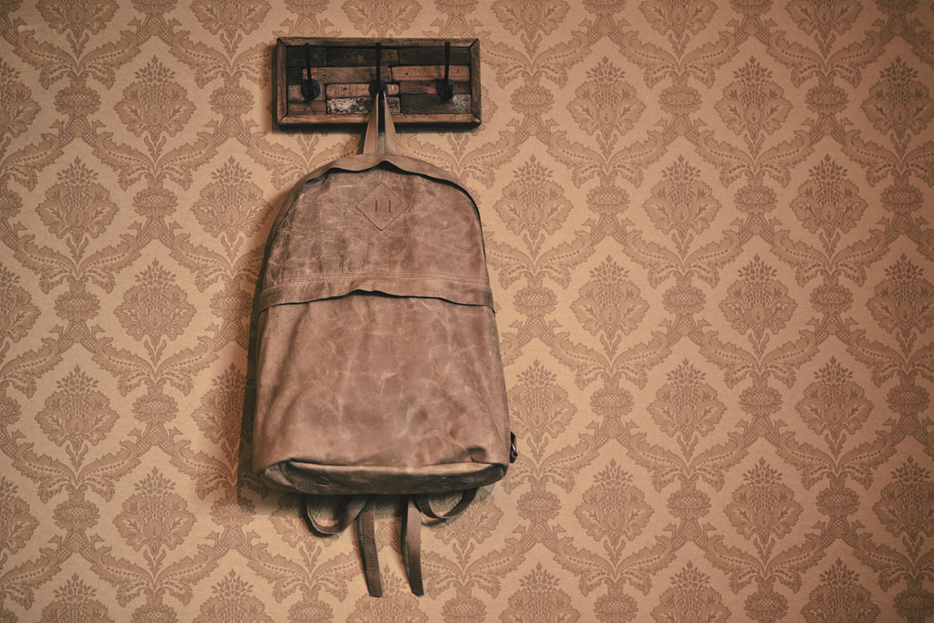 Arts & Science Leather Backpack