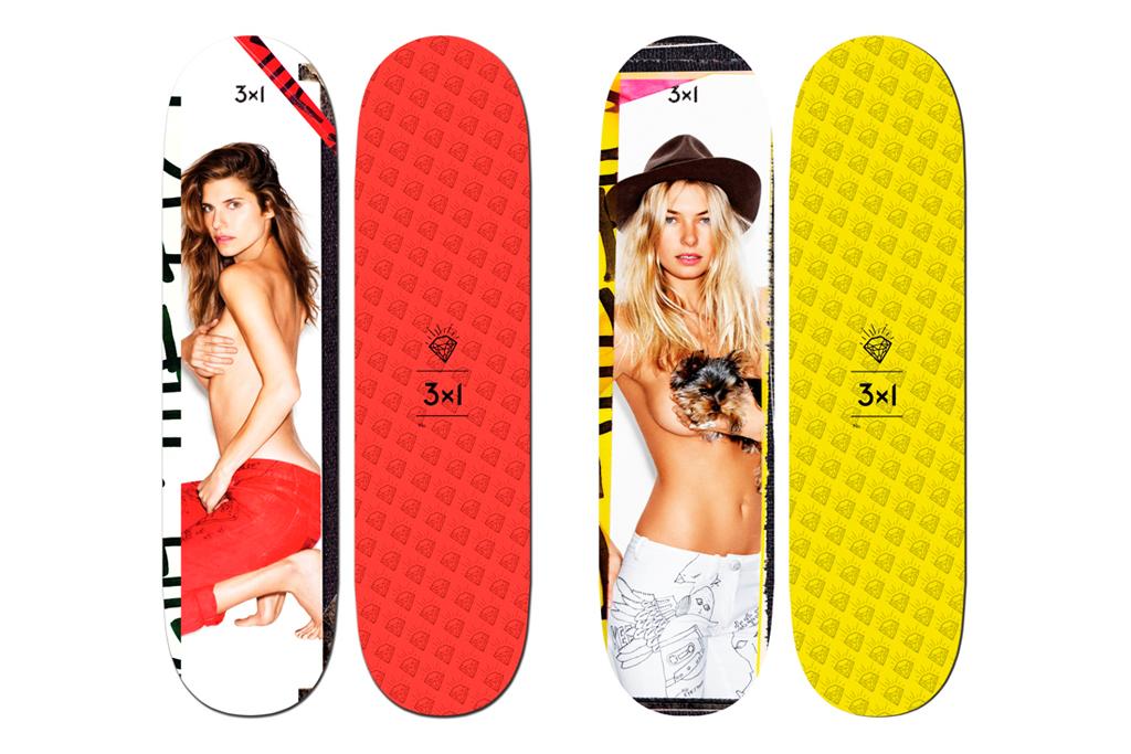 Ben Watts x 3x1 Denim 2012 Supermodel Skateboard Decks