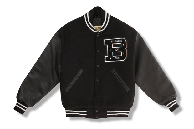 billionaire boys club 2012 spring summer quarterback varsity jacket