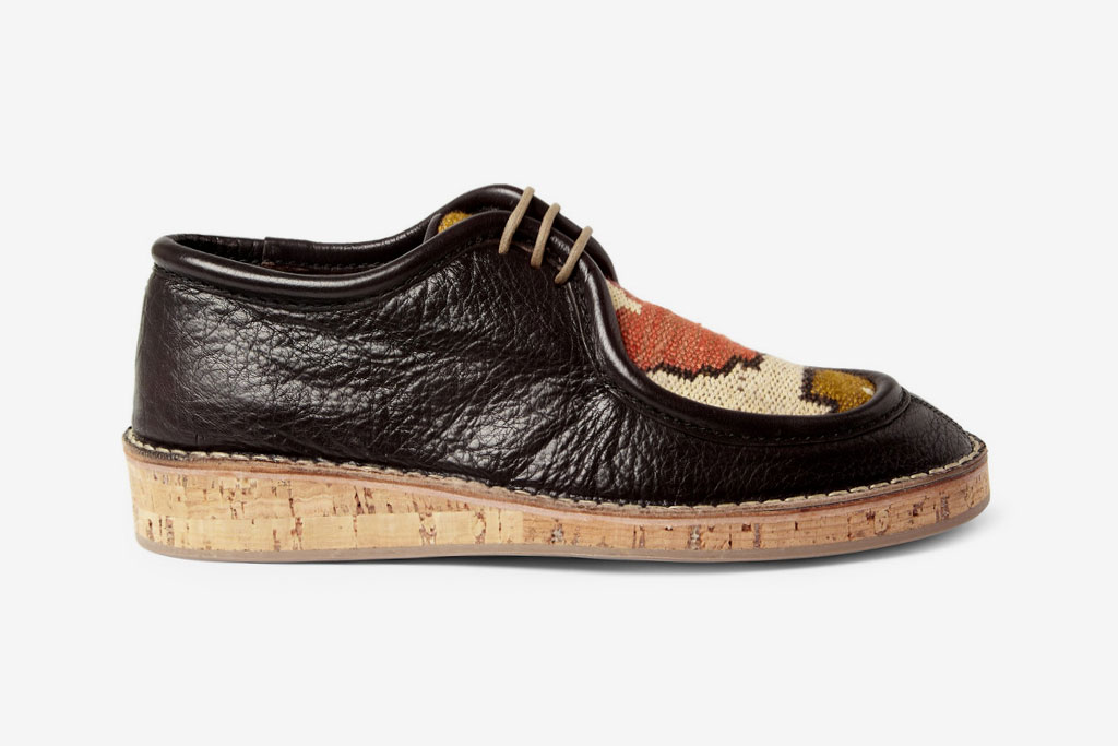 burberry prorsum 2012 spring summer woven top cork sole leather shoes