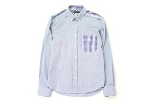 CASH CA x Smyth & Gibson SS Navy Shirt Heather Grey Wall Exclusive