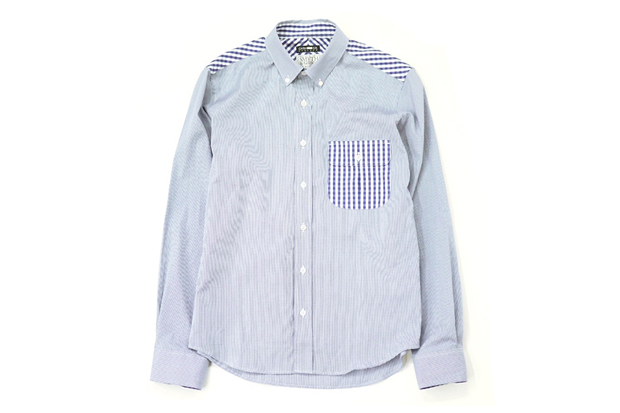 cash ca x smyth gibson ss navy shirt heather grey wall exclusive