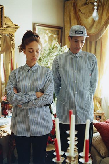 comme des garcons shirt x supreme 2012 capsule collection lookbook