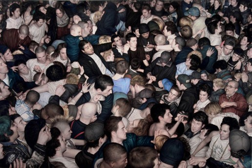 "Dan Witz ""Mosh Pits"" Paintings"