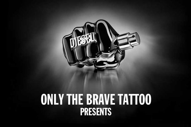 diesel releases a new fragrance only the brave tattoo and presents its tattoo gallery