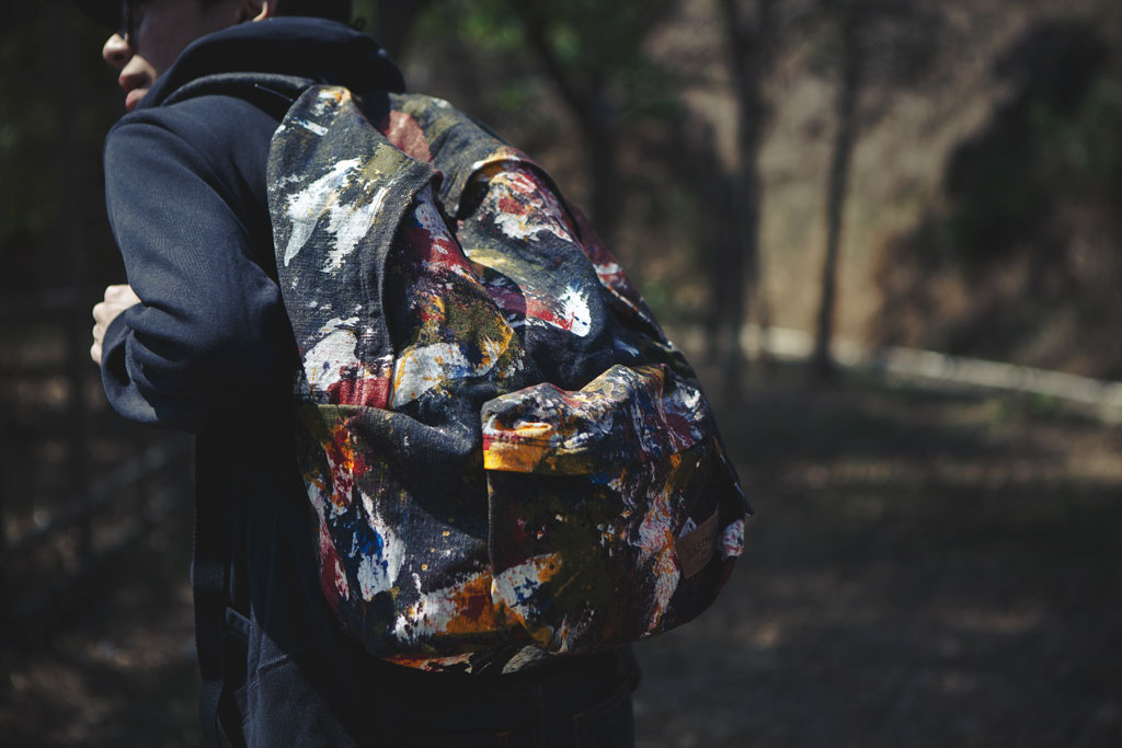 eastpak dlab action painting backpack