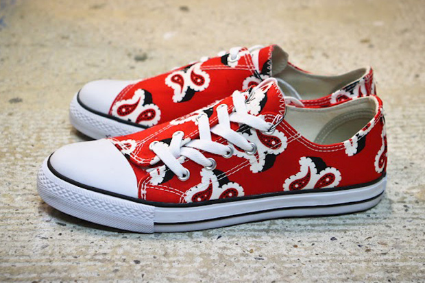ganryu comme des garcons 2012 spring summer paisley sneakers