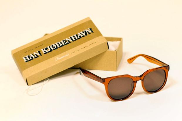 Han Kjobenhaven Paul Senoir Transparent Brown Sunglasses
