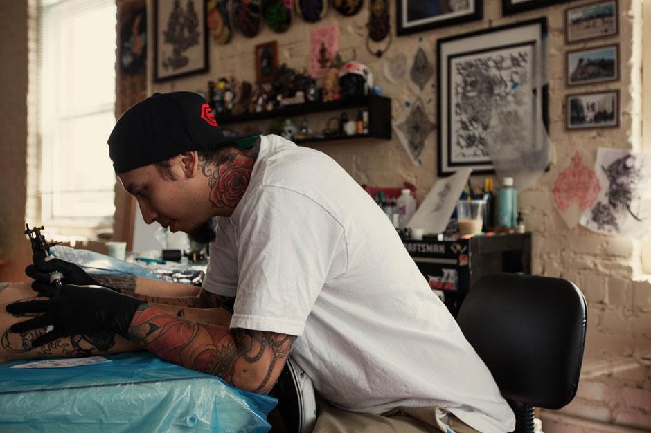 hypebeast spaces lucky olelos tattoo studio