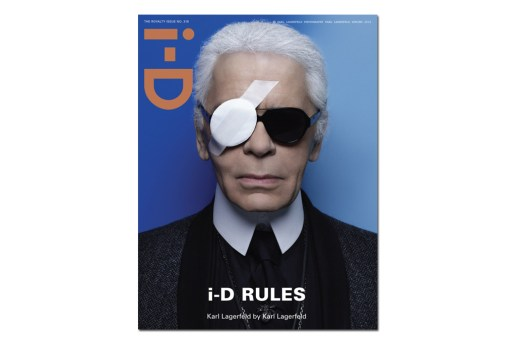 i-D Magazine 2012 Spring Issue featuring Karl Lagerfeld