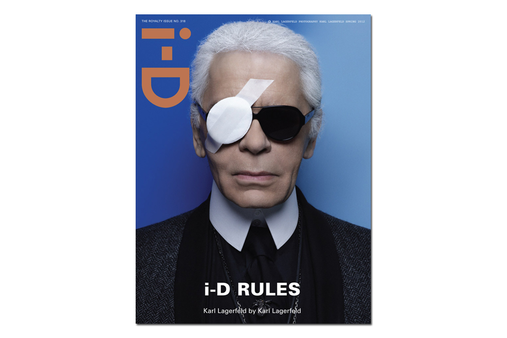 i d magazine 2012 spring issue featuring karl lagerfeld