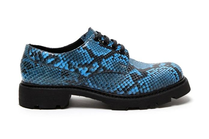 Jil Sander Snake Skin Print Derby Shoe