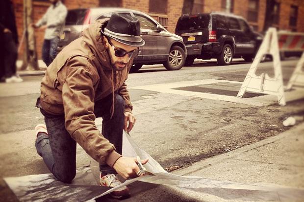 JR x Liu Bolin @ Elizabeth & Spring NYC